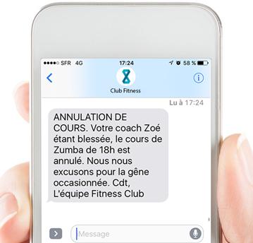 sms automatisés de type alerte