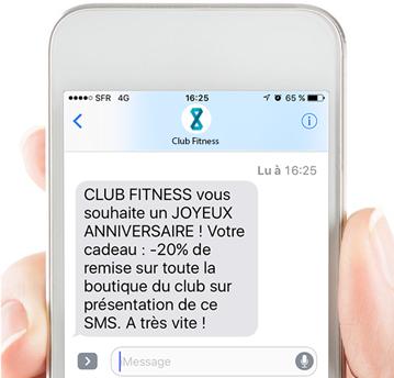 sms automatisés d'anniversaire - resamania logiciel fitness