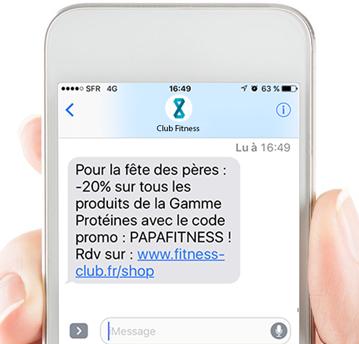 sms automatisés promotionnel de resamania logiciel fitness